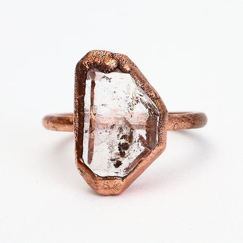 Copper Electroformed Faden Quartz Ring
