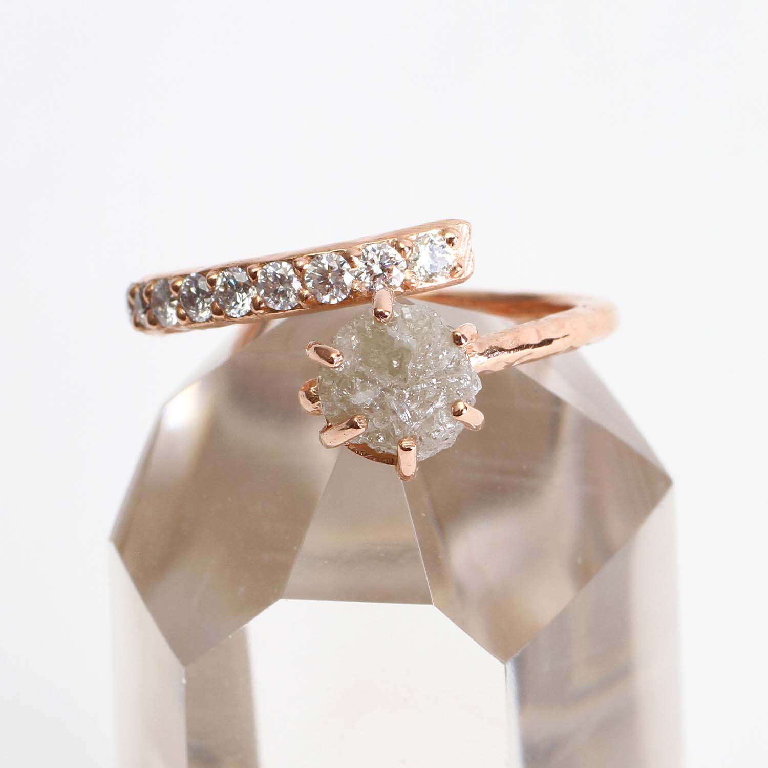 Natural Diamond & Pave Diamond Ring