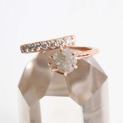 Natural Diamond & Pave Diamond Ring