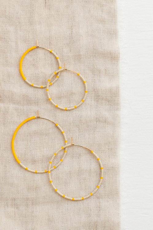 Loma Earrings - Wool/Yellow (Small)
