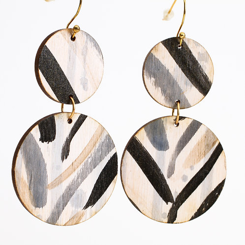 Vivian Earrings - Zebra