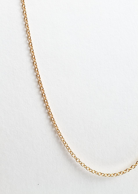 """14K Yellow Gold 1 mm Adjustable Solid Cable 16-18"""""""