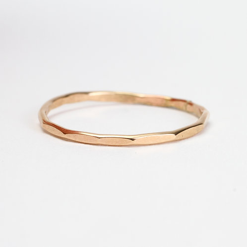 Yellow Hammered Stack Ring