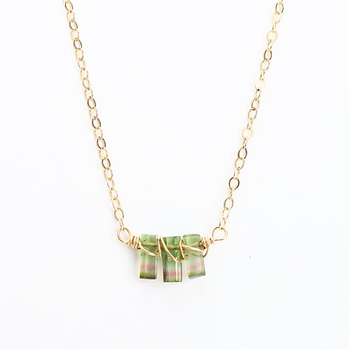 AAA Quality Watermelon Tourmaline Necklace