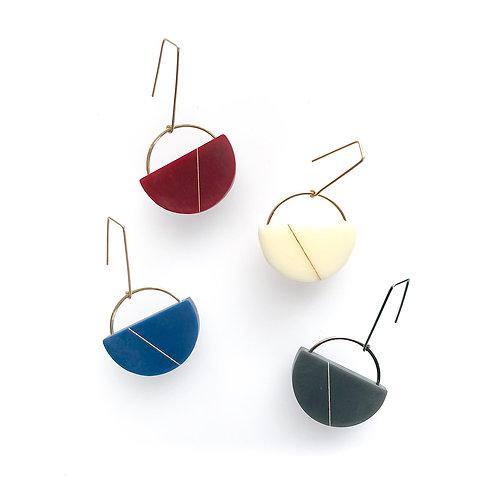 Sofie Earrings - Wine