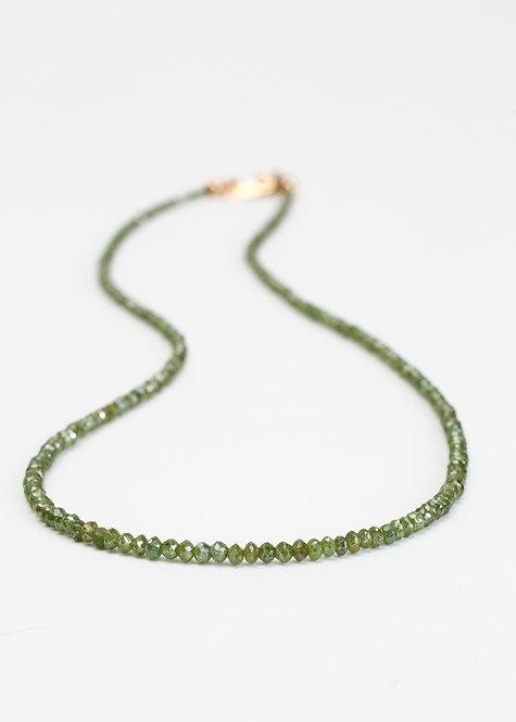14ct Green Diamond Necklace