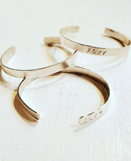 Sterling Sliver Personalized Cuff