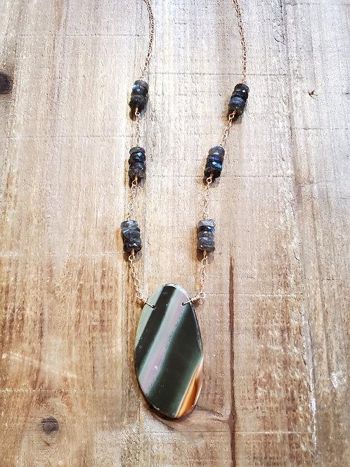 Polychrome Jasper & Labradorite Necklace