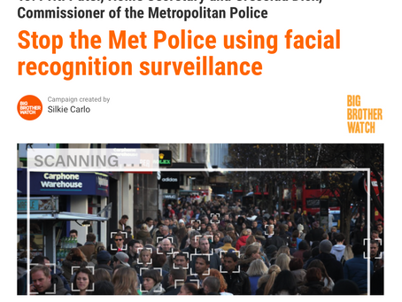 Metropolitan Police using facial recognition... stop the surveillance