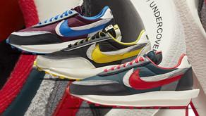 As três cores do Undercover x Sacai Nike LDWaffle chegam em breve ao Brasil
