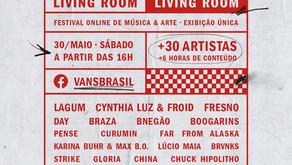 """""""Vans Living Room"""" festival online no dia 30 para arrecadar doações para profissionais da música"""