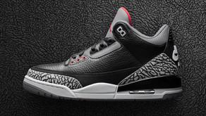 Imagens Oficiais do Air Jordan 3 - Black Cement - que chega também ao Brasil