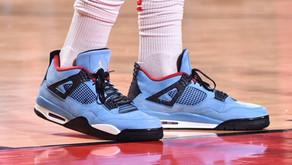 PJ Tucker usa o Air Jordan 4 do Travis Scott durante jogo da NBA nos Playoffs