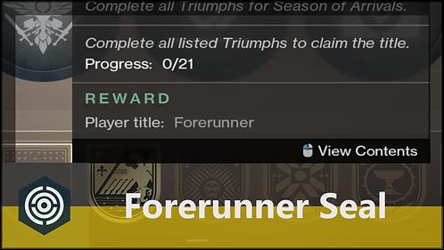 'Forerunner' Seal