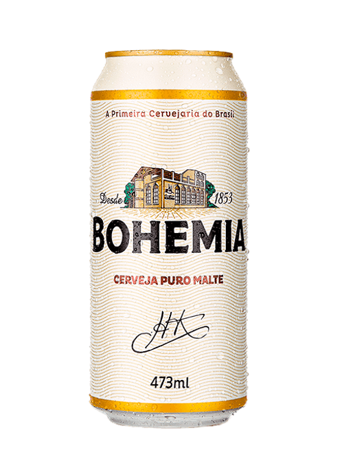Cerveja Bohemia Puro Malte Lata 473ml