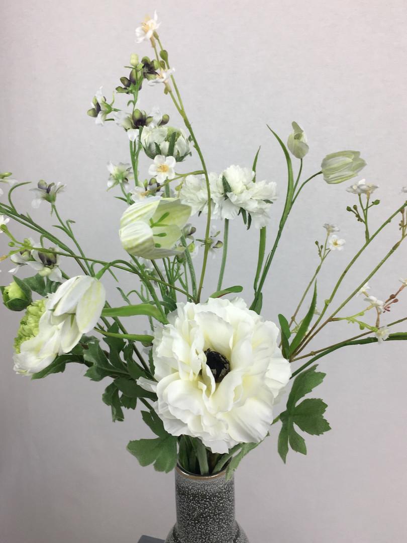 Blumenfeuerwerk Seidenblumen Weiss Smila