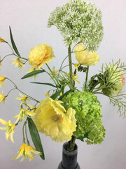Blumenfeuerwerk Seidenblumen Gelb Mariel