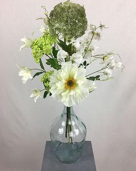 Blumenfeuerwerk Seidenblumen Weiss Marie
