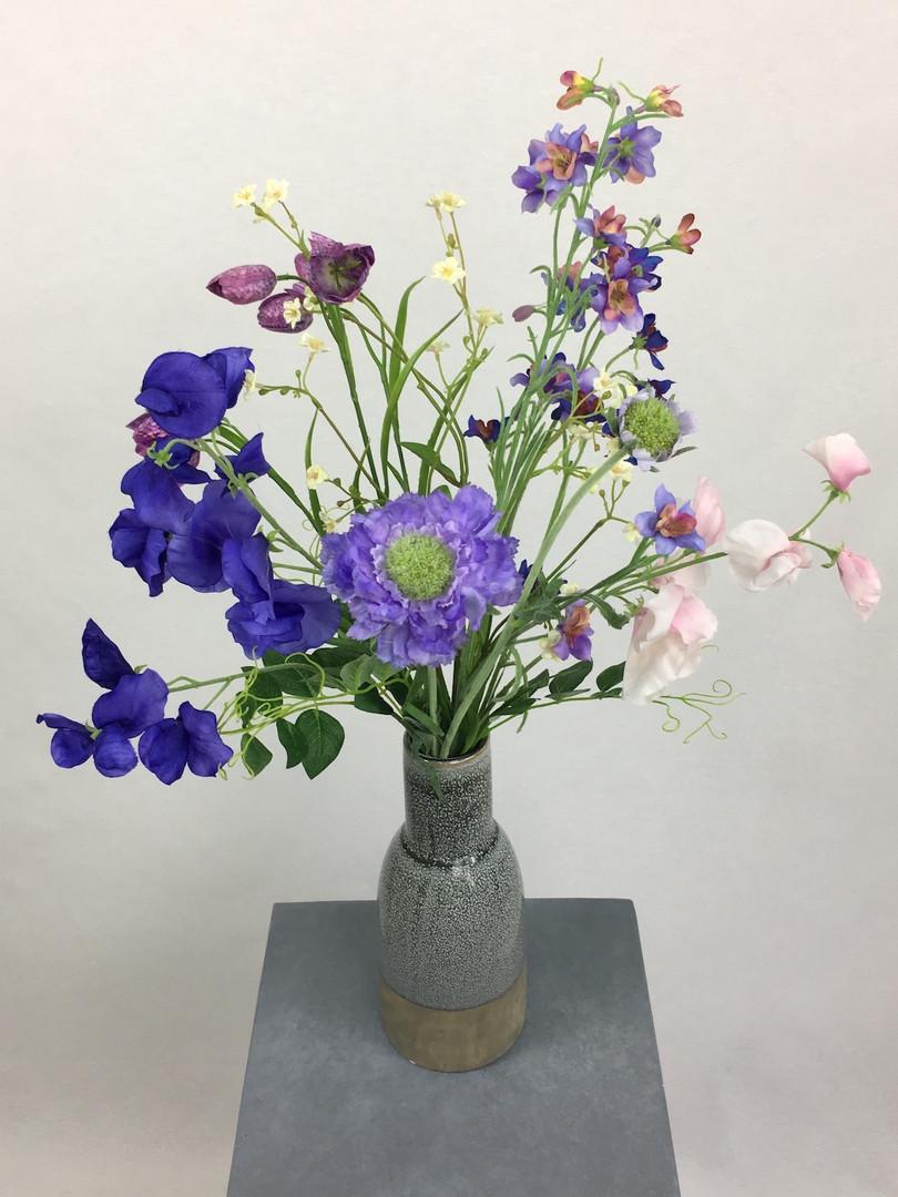 Blumenfeuerwerk Seidenblumen Blau Smila
