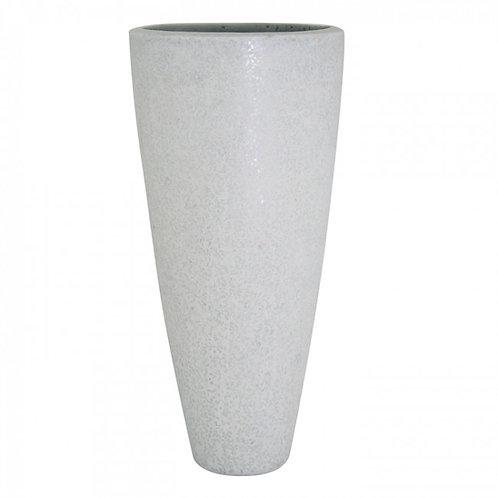 Pflanzegefäß Glitter D46 H100cm Weiss
