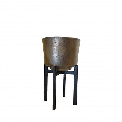 Pflanzegefäß Toos D32 H63cm Kupfer