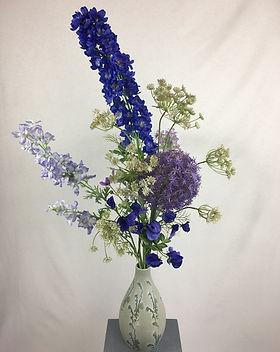 Blumenfeuerwerk Seidenblumen Blau Xenia