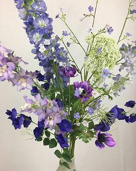 Blumenfeuerwerk Seidenblumen Blau Lotta
