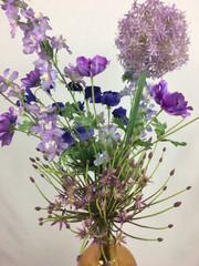 Blumenfeuerwerk Seidenblumen Blau Mariel