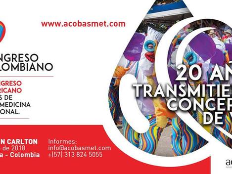X Congreso Colombiano y XVII Congreso Iberoamericano de Bancos de Sangre - Mayo 10 al 13/2018