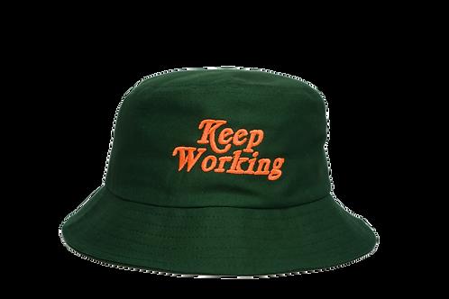 KEEP WORKING BUCKET  - FOREST GREEN