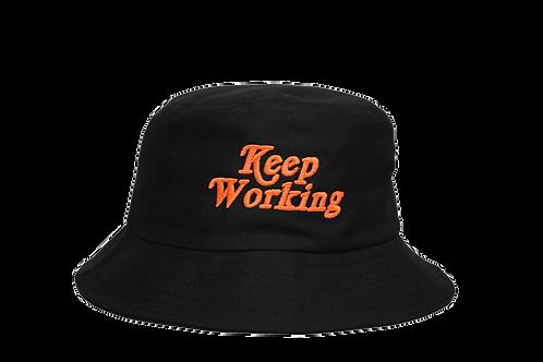 KEEP WORKING  BUCKET - BLACK