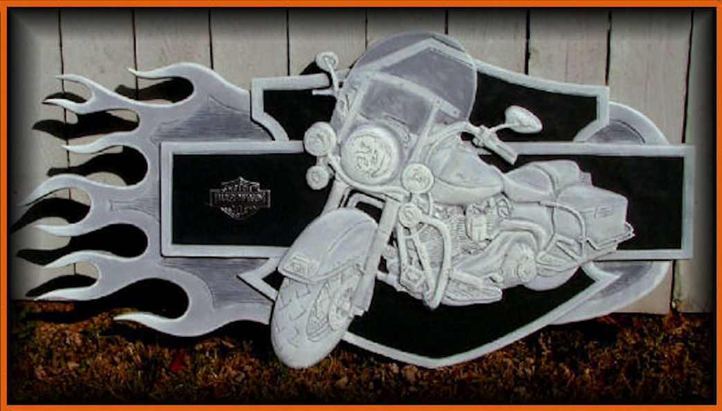 Flamebike Wall Art