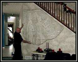 HANGING EGYPTIAN ART