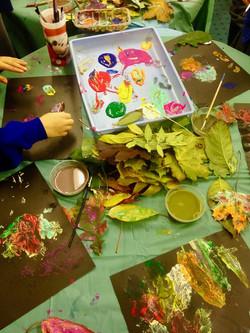 Leaves Printmaking