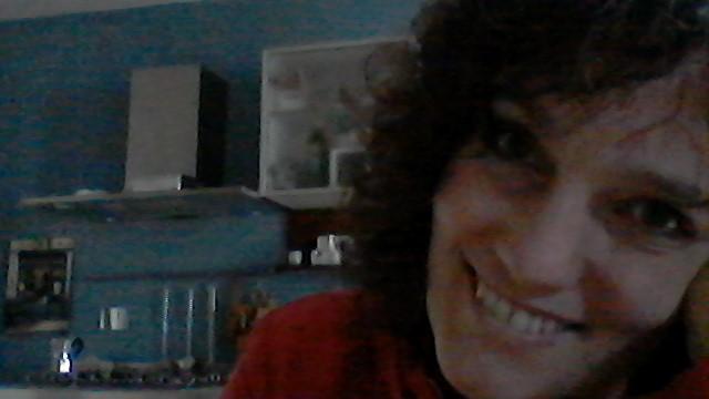 Giorgia Rocca al lavoro in cucina