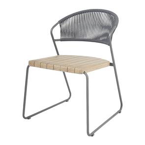 Naoko Dining Chair Rope Grey