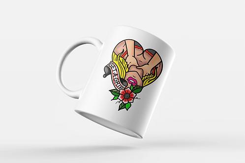 Get A Grip Tattoo Print Mug