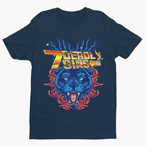 Blue Panther Tattoo Streetwear T-shirt