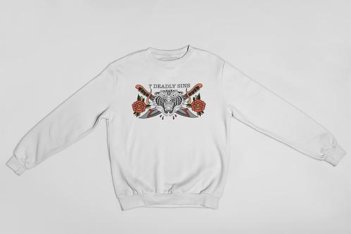 Bold Tiger Traditional Tattoo Streetwear Sweater