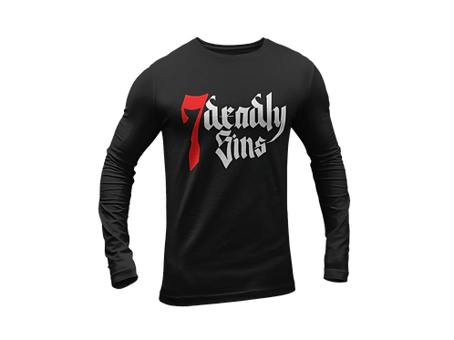 7 Deadly Sins Large Logo Black Long Sleeve T-shirt