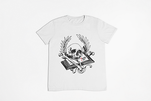 Book of Mortality White T-shirt