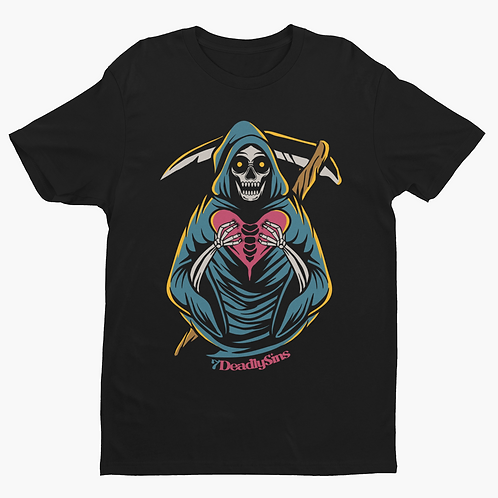 Grim Heart Reaper Tattoo Inspired Streetwear T-shirt