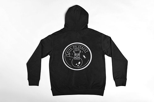7 Deadly Sins Give Me Space Hoodie Black Back Print