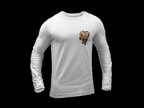 Get a Grip Tattoo T-shirt Long Sleeve White