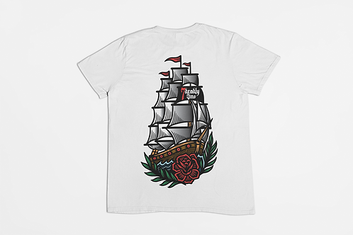 HMS 7DS Back Print T-shirt in White