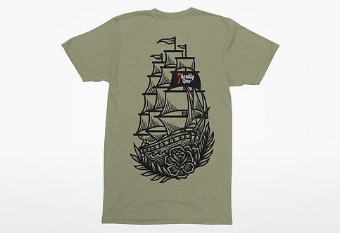 HMS & Deadly Sins Unisex T-shirt Front & Back Print - back view