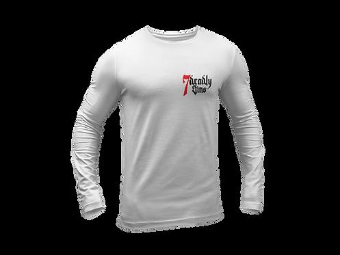 7 Deadly Sins Chest Logo Long Sleeve White T-shirt