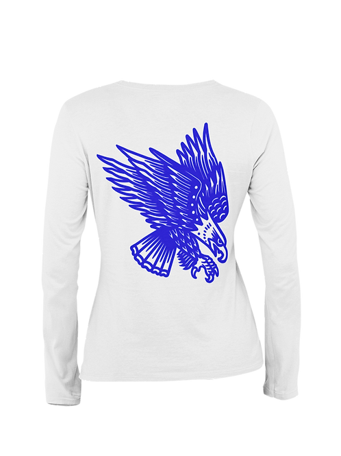 Blue Eagle Tattoo Streetwear Long Sleeve T-shirt