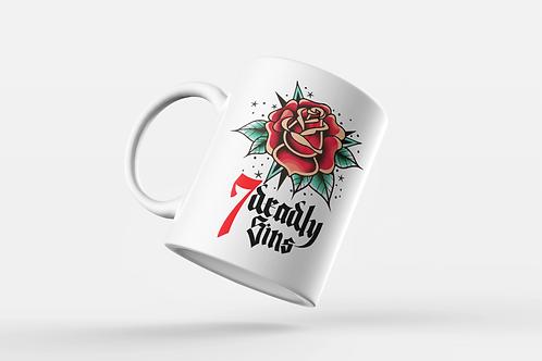 Traditional Rose Tattoo Print Mug