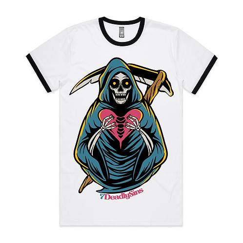 Grim Heart Reaper Tattoo Inspired Streetwear Ringer